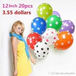 $enCountryForm.capitalKeyWord Australia - New year Polka Dot Balloons wedding marry marriage room decoration essential 12 inch round pieces of blue purple yellow red