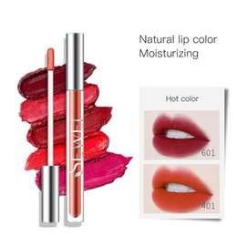 long wear lipsticks NZ - 6 Colors Matte Air Lip Glaze Lip Gloss Long-Lasting And Non-Staining Lipstick Make Up Easy To Wear Waterproof Lipstick