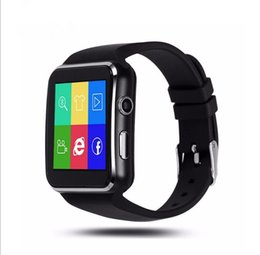 New Watch Touch Screen Australia - New Arrival X6 Smart Watch with Camera Touch Screen Support SIM TF Card Bluetooth Smartwatch sedentary reminders Bluetooth dial up