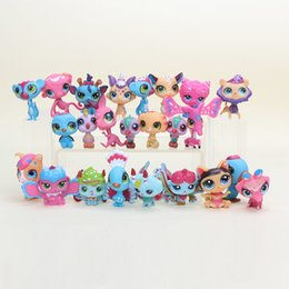 $enCountryForm.capitalKeyWord Australia - 24pcs set 5cm Shop Action Figure Animal Littlest Kawaii Mini Doll Cartoon Lovely Cat Dog Heart Model Toys Children Gift Y19051804