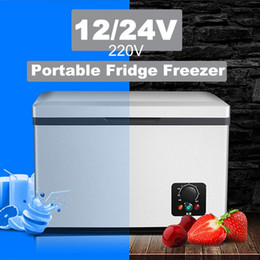 portable ac for cars NZ - Car Refrigerator 18L AC DC Portable Warmer and Freezer Touch Screen Control Easy for Moving Home Picnic Camping Party