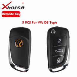 Keys Chip Shell Australia - XHORSE VVDI2 For DS Type Remote Key 3 Buttons Remote Key Shell For V-W Transponder Chip X002 Remote Key 5 PCS lot