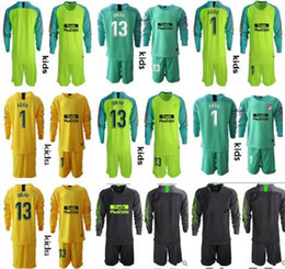Youth Soccer Uniform Jerseys NZ - 2018-2019 Youth Long Sleeve Kid Adan Oblak Goalkeeper Jerseys Kids Soccer Sets #13 Jan Oblak #1 Adan Boys Kits Goalkeeper Children Uniform