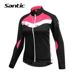 $enCountryForm.capitalKeyWord Australia - Santic Cycling Windproof Jacket Warm Road Mountain Bike Jacket Women Winter Fleece Thermal Bicycle Clothing Riding Wind Coat SH190702