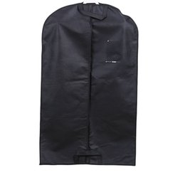 Eco Carrier Bags NZ - Non Woven Suit Overcoat Dust Proof Cover High Quality Black Clothing Storage Bag Travel Garment Carrier 5xh Ww