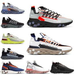 ghost running shoes NZ - Fashion Arrival React Runner Mid Wr Ispa Men Women Running Shoes Ghost Aqua Platinum Volt Summit White Mens Trainer Fashion Sports Sneakers