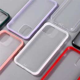 pc case bag Australia - Air Bag Transparent Matte Frost Soft TPU Hard Clear PC Phone Case Shockproof Back Cover For iPhone 11 Pro Max XS XR X 8 7 6 6S Plus