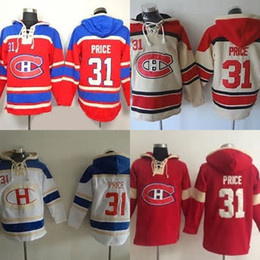 $enCountryForm.capitalKeyWord Australia - Hot Sale Mens Montreal Canadiens 31 Carey Price Red Beige White Best Quality Cheap 100% Embroidery Logo Ice Hockey Hoodies Accept Mix Order