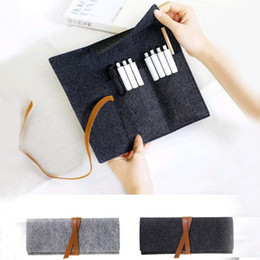 Large roLL paper online shopping - Portable Roll School Pencil Case Felt Cloth Pen Bag for Girls Boys Cute Large Capacity Pencilcase Box Stationery escolar Trousse