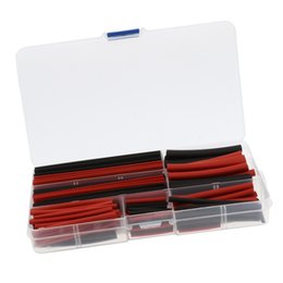 heat shrink tubing wire wrap Australia - 150 Pieces Heat Shrink Tube Wire Wrap Tubing Sleeve Assortment Black And Red