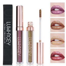 sexy hot makeup 2019 - Hot Sell Lip Gloss Lip Tint Liquid Lipstick Kit Cosmetics Makeup Shimmer Pigment Frosted Sexy Lipstick maquiagem Dropshi