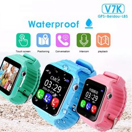 Smart Watch For Kids Gps Australia - GPS smart watch kids watch V7k with camera facebook SOS Call Location DevicerTracker for Kid Safe Anti-Lost Monitor