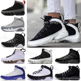 Black White Men Shoes Cheap Australia - Cheap New 9 9s space Jam mens Basketball Shoes sneakers running shoes for men White Black Sports Sneakers LA Bred OG space Jam Tour blue PE