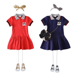 378df1855dfd Discount preppy little girl clothes - Baby Girl Preppy Style Dress 2019 Girls  Little Cat Clothes