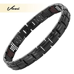 titanium bracelets Australia - Vivari Pure Titanium Women's Health Magnetic Bracelet Slim Narrow Germanium Benefit Healthy 4 Elements Pulseras Hombre Bracelets