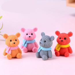 ScarfS bearS online shopping - Cartoon Scarf Wool Bear Home Decor PVC DIY Micro Landscape Succulent Plants Accessories Mini Doll cj Ww