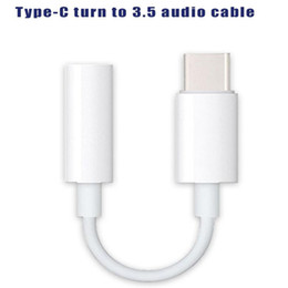 Usb male aUx cable online shopping - For USB C version Type C to mm Male Headphone Jack Adapter cm AUX Audio Cable For Cellphone