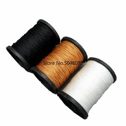 Shoes Repair Australia - 50M Sewing Threads 985ft Durable Strong Bounded Nylon Leather Sewing Waxed Thread for Craft Repair Shoes black   white   brown
