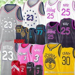 Philadelphia Jimmy 23 Butler 76ers Jersey Derrick 25 Rose Timberwolves  Nikola 15 Jokic Luka 77 Doncic 30 Curry Dwyane 3 Wade Jerseys 2486405c4
