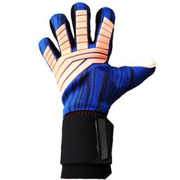 Gloves Football Goalkeepers NZ - Professional Goalkeeper Kids Gloves Finger Protection Thickened Latex Soccer Football Tools Gloves Goal keeper Gloves