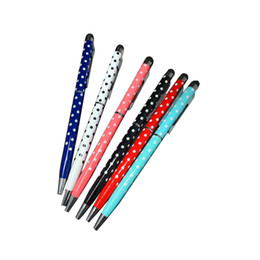 $enCountryForm.capitalKeyWord Australia - 60pcs kawaii ballpoint pen metal dot stylus touch pen cute school office writing supplies fashion girls gift korean stationery