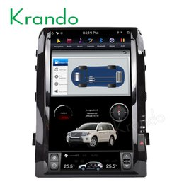 """Chinese  Krando Android 6.0 16"""" Tesla style Vertical screen car dvd navigation for Toyota Land Cruiser 200 2008-2015 car radio with gps wifi manufacturers"""