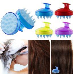 $enCountryForm.capitalKeyWord NZ - Dropship 1pcs Silicone Head Spa Slimming Massage Brush Body Shampoo Scalp Massage Brush Comb Hair Washing Comb Shower Bath Brush