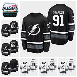 268748992 2019 All Star Game 91 Steven Stamkos 86 Nikita Kucherov Customize Men Women  Youth Tampa Bay Lightning Hockey Jerseys Black White Jersey
