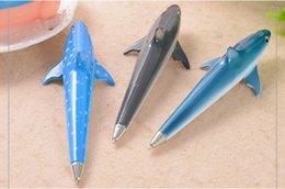 $enCountryForm.capitalKeyWord Australia - new shark Style ballpoint pen creative roller pen stationery prize gift office writing student learning office supplies 40pc lot