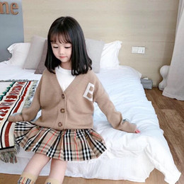 Wholesale cashmere sweater boys resale online – 2020 Spring Autumn Knitted Cardigan Sweater Baby Children Clothing Boys Girls Sweaters Kids Autumn Wear Baby Boy Clothes Winter