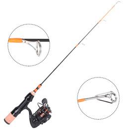 Klash Light Viagem Portátil 1000 Series 8 + 1 BB Aço Inoxidável Spinning Ice Fishing Rod com Carretel De Pesca Haste Combo Caixa caixa