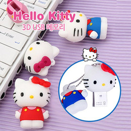 8gb cartoon usb flash memory Australia - happy New Cartoon Hell Kitty Pendrive 128 GB USB Flash 128GB 64GB 32GB 16GB 8GB Pen Drive Cute Memoria USB Flash Disk Memory Stick