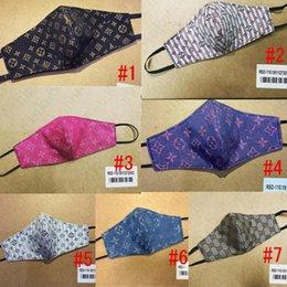 Máscara marca de leche de fibra y doble malla Diseñador Capa Máscara facial de lujo Carta de Sunproof Ciclismo boca cubierta de mascarillas para D52808 caliente Hombres Mujeres en venta