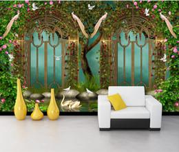 $enCountryForm.capitalKeyWord Australia - Custom Wallpaper 3D Stereoscopic Idyllic flower wrought ir Beauty Oil Painting Modern Abstract Art Wall Mural Living Room Bedroom Wallpaperl