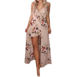 Overalls Jumpsuits For Women Australia - Jumpsuit combinaison Women Summer Overalls for women Sleeveless Flower Playsuit Beach Trousers item 23 MYAO15MAR12