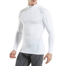 Discount plus size undershirts - KalvonFu Mens Winter Thermal Underwear Male Warm Plus Size Thermal Tights Compression Undershirt Riding Tops