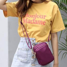 Simple Ladies Shoulder Bag Mini Slung Mobile Phone Crossbody Messenger Hand  Bags Fashion Waist Waterproof Nylon Cloth Tote Bag c1b8e4ed5d4f7