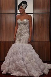 Short Plus Size Camo Wedding Dresses Australia - Plus Size Arabic Nigerian Wedding Dresses Beading Tiered Short Sleeves Long Chapel Train Tulle 2019 Mermaid Bridal Gowns