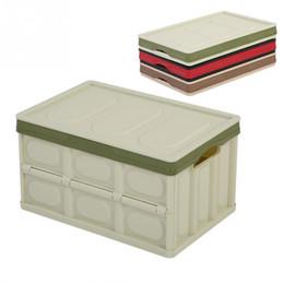 Green Box Containers Australia - Car Rear Storage Box Foldable Cubes Bin Box Container Sundries Storage Organizer