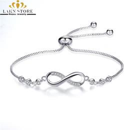 180483fdcd76 Pulseras Infinity de lujo de plata esterlina 925 rellenas ajustables homme    Femme charm chainLink pulseras para mujeres   hombres   parejas