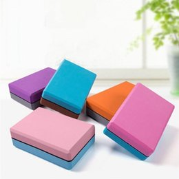 block brown Australia - Stock 2pcs set EVA Waterproof Yoga Blocks Women Pilates Foam Brick Fitness Gym Home Workout Equipment Exercise Accessories FY6154