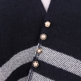 emerald clothing UK - 10pcs Button Brooch Set Imitation Pearl Rhinestones Pin Coat Clothes Accessories Gift Prevent Exposure Brooches for Women A35