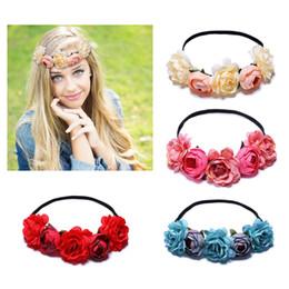 M MISM Fashion Wedding Elastic Flowers Headband Elegant Bridal Flora Hair  Accessories For Girls Cute Flowers Rubber Hair Band dc19f3e6e17c