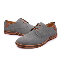 5a68b6c1ce6a Mens Lace Up Suede Casual Shoes Brogue Oxford Business Party Dress Shoes  Male Round Toe Soft Comfor Walking shoes