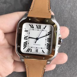 3192abb67179 Luxury Brand Fashion WSSA0009 automatic mechanical stainless steel case  cowhide strap men s watch 47 mm x 39 mm with box