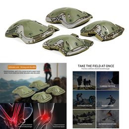 hunting knee pads 2019 - 1 Pair Knee Elbow Pads Protection Set Tactical War Paintball Hunting Climbing Game Protector Wear-Resistant Tough Safely