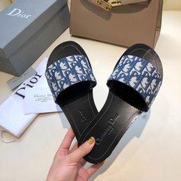 Flat slippers For ladies online shopping - Flip Flops for Beach Time Designer Brand Beach Slippers Thong Sandals for Summer Flats Slides Waterproofing Sandals Designer Shoes for Lady