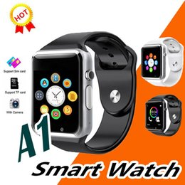 bluetooth smart watch sim Australia - Smartwatch A1 Bluetooth Answer Call Luxury Watch Band Sport Pedometer Push Message Calls with SIM Camera for Android Smart phone Home Use