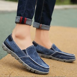 Men Shoes Size 39 Australia - Plus Size 39-48 Canvas Mens Shoes Denim Brand Mens Casual Shoes Fashion Sneakers Breathable Loafers for Men Male Footwear