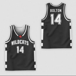 848db068f00 East High School Wildcats  14 Zac EfronTroy Bolton White Red Black Green  Classic Basketball Jersey Mens Stitched Custom Number name Jerseys